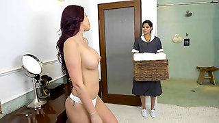 Monique Alexander fucks her maid while boyfriend is away