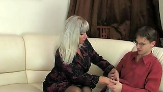 Mature MILF lady enjoys old and young big cock fucking