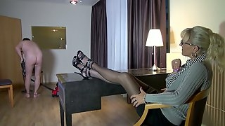 Busty cougar Lana Vegas allows her henpecked man to penetrate anal hole