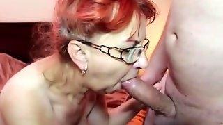 Czech Granny Sucks A Hard Prick On Camer - sucks off