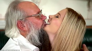 Grandpa Fucks Horny Blond - Old and Young