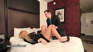 Teen guy fucks drunk tranny