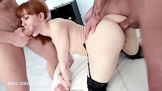 Alexa Nova got fucked in the ass and got some fresh pee in her mouth