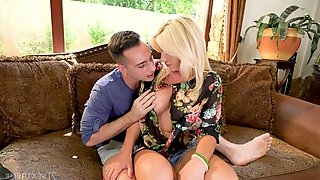 Hot middle aged housewife Tiffany Rousso gets intimate with addicted to sex stepson