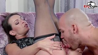 Hot german amateur milf fuck at hand  tits