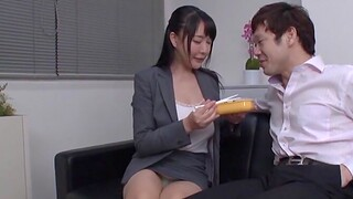 Video of unpretentious boobs Japanese non-specific getting fucked by her boss