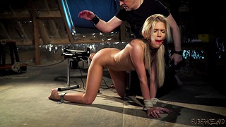 Bondage and sex for sexy teen that wants ballpark fuck