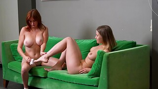 Amalia Davis and Qualin work out and decide to lick each other