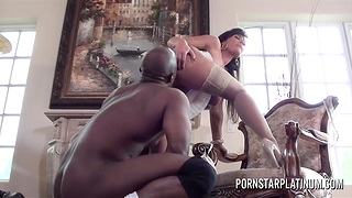 Ivory skinned milf Lisa Ann is fucked wide of hot blooded BBC Prince Yahshua