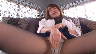 Wily Japanese chick Shinoda Yuu tied up and pleasured with toys