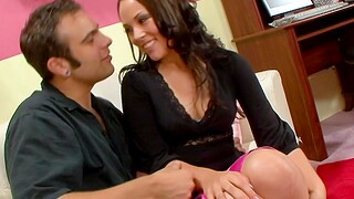 Desirable brunette chick Kristina Rose moans while getting fucked